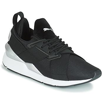 Schoenen Dames Lage sneakers Puma WN MUSE SATIN II.BLACK Zwart
