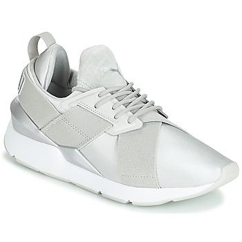 Schoenen Dames Lage sneakers Puma WN MUSE SATIN II.GRAY Grijs