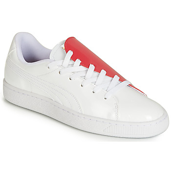 Schoenen Dames Lage sneakers Puma WN BASKET CRUSH.WH-HIBISCU Wit