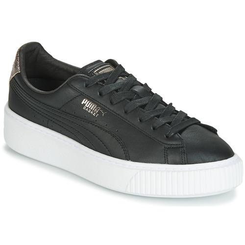 Schoenen Dames Lage sneakers Puma WN SUEDE PLATFM OPULENT.BL Zwart