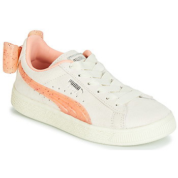 Schoenen Meisjes Lage sneakers Puma PS SUEDE BOW JELLY AC.WHIS Beige