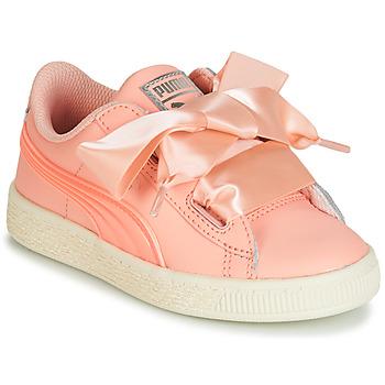 Schoenen Meisjes Lage sneakers Puma PS BASKET HEART JELLY.PEAC Roze