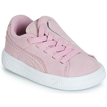 Schoenen Meisjes Lage sneakers Puma INF SUEDE CRUSH AC.LILAC Lila