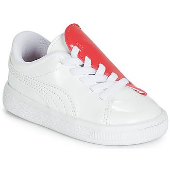 Schoenen Meisjes Lage sneakers Puma INF B CRUSH PATENT AC.W-H Wit
