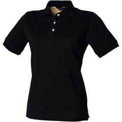 Textiel Dames Polo's korte mouwen Henbury HB121 Marine