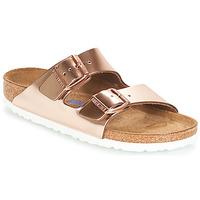 Schoenen Dames Leren slippers Birkenstock ARIZONA SFB Goud