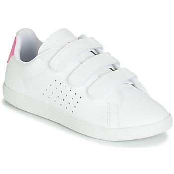 Schoenen Meisjes Lage sneakers Le Coq Sportif COURTSET PS Wit / Roze