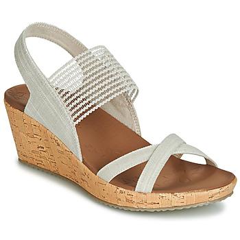 Schoenen Dames Sandalen / Open schoenen Skechers BEVERLEE Beige