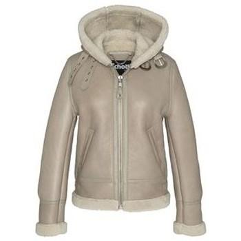 Textiel Dames Wind jackets Schott BOMBARDIER FEMME A CAPUCHE  Light  beige LCW1257H Beige