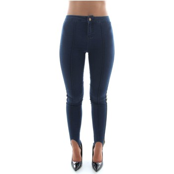 Textiel Dames Leggings Bsb 040-243004 Blue Denim