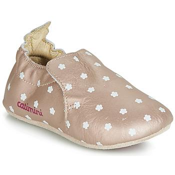 Schoenen Meisjes Sloffen Catimini CARA Roze / Goud