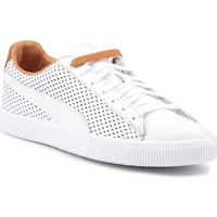 Schoenen Heren Lage sneakers Puma Lifestyle shoes  Clyde Colorblock 2 363833 01 white, brown