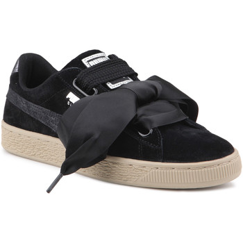 Schoenen Dames Lage sneakers Puma Lifestyle shoes   Suede Heart Safari Wns 364083 03 black