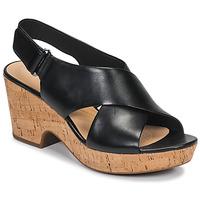 Schoenen Dames Sandalen / Open schoenen Clarks MARITSA LARA Zwart