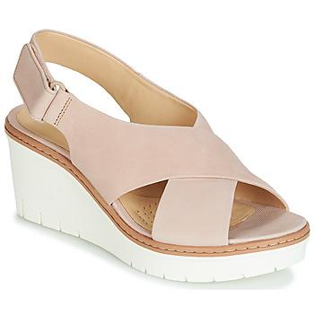 Schoenen Dames Sandalen / Open schoenen Clarks PALM CANDID Nude