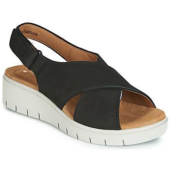 Schoenen Dames Sandalen / Open schoenen Clarks UN KARELY SUN Zwart