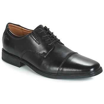 Schoenen Heren Derby Clarks TILDEN CAP Zwart