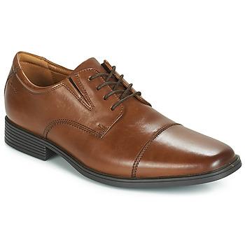 Schoenen Heren Derby Clarks TILDEN CAP Bruin