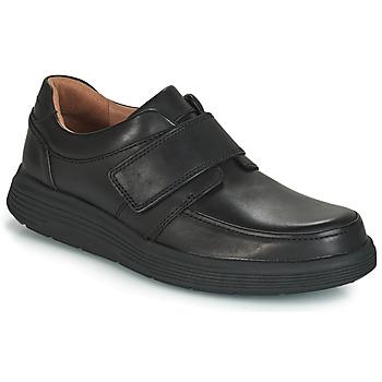 Schoenen Heren Derby Clarks UN ABODE STRAP Zwart