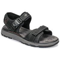 Schoenen Heren Sandalen / Open schoenen Clarks UN TREK PART Zwart