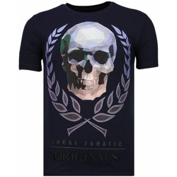Textiel Heren T-shirts korte mouwen Local Fanatic Skull Originals - Rhinestone T-shirt