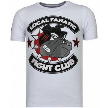Textiel Heren T-shirts korte mouwen Local Fanatic Fight Club Spike - Rhinestone T-shirt - Wit