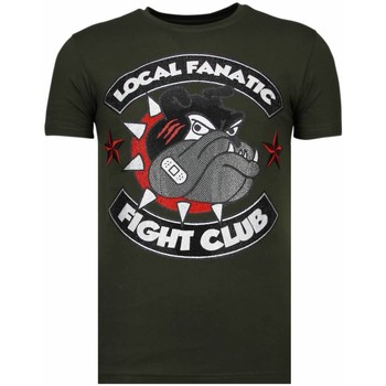 Textiel Heren T-shirts korte mouwen Local Fanatic Fight Club Spike Rhinestone Groen