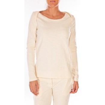 Textiel Dames Truien Petit Bateau Sweat Shirt en coton enflammé beige coquille Beige