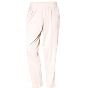 Textiel Dames Broeken / Pantalons So Charlotte Pleats jersey Pant B00-424-00 Écru Beige