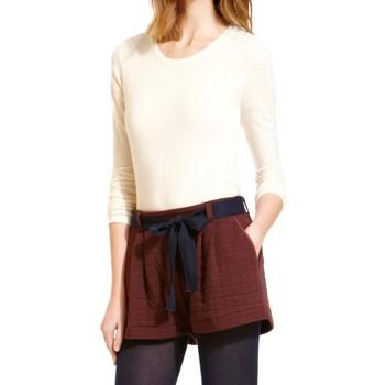 Textiel Dames T-shirts met lange mouwen Petit Bateau T-shirt Manches Longues 10622 522 Écru Beige