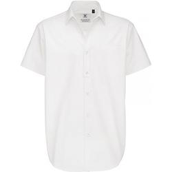 Textiel Heren Overhemden korte mouwen B And C Sharp Wit