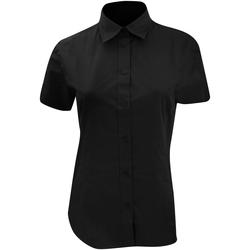 Textiel Dames Overhemden Kustom Kit KK728 Zwart