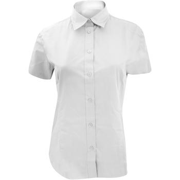 Textiel Dames Overhemden Kustom Kit KK728 Wit