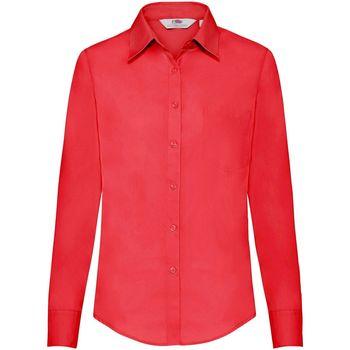 Textiel Dames Overhemden Fruit Of The Loom 65012 Rood