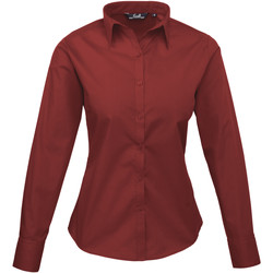 Textiel Dames Overhemden Premier PR300 Bourgondië