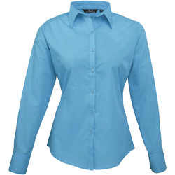 Textiel Dames Overhemden Premier PR300 Turquoise