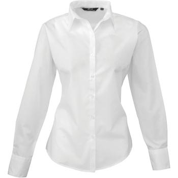 Textiel Dames Overhemden Premier PR300 Wit