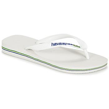 Schoenen Teenslippers Havaianas BRASIL LOGO Wit