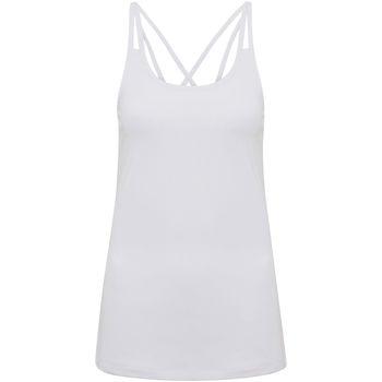 Textiel Dames Mouwloze tops Tridri TR029 Wit