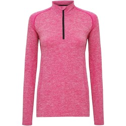 Textiel Dames T-shirts met lange mouwen Tridri TR205 Roze