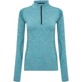 Textiel Dames T-shirts met lange mouwen Tridri TR205 Turquoise