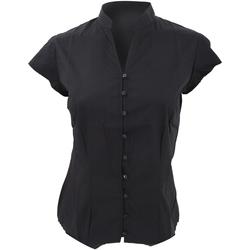 Textiel Dames Overhemden Kustom Kit KK727 Zwart