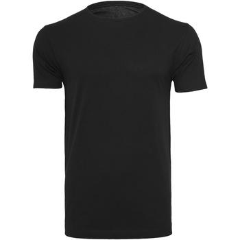 Textiel Heren T-shirts korte mouwen Build Your Brand BY005 Zwart