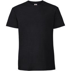 Textiel Heren T-shirts korte mouwen Fruit Of The Loom 61422 Zwart