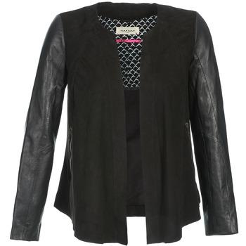 Textiel Dames Leren jas / kunstleren jas Naf Naf COCOTTE Zwart