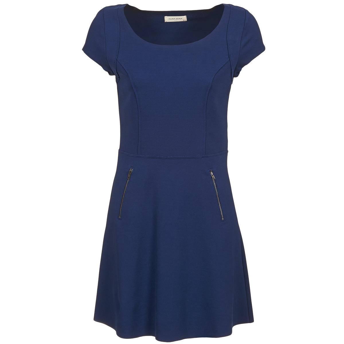 NAF NAF korte jurk kant blauw
