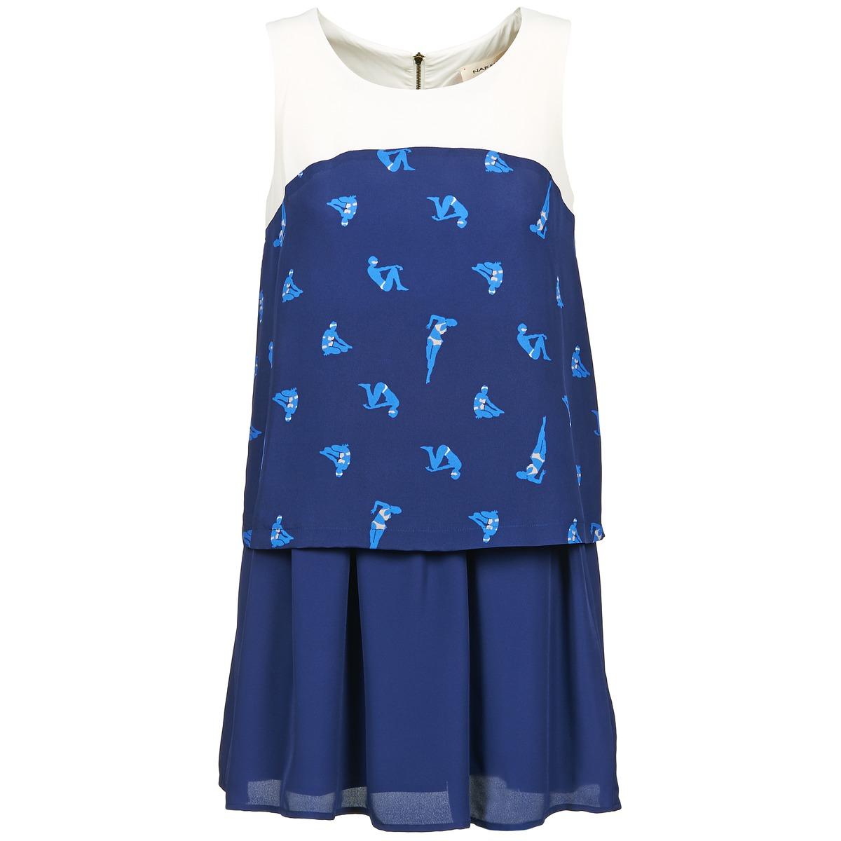 NAF NAF korte jurk libain blauw