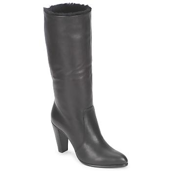 Schoenen Dames Hoge laarzen Michel Perry CALF Zwart