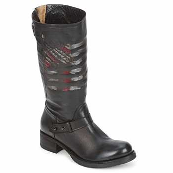 Schoenen Dames Laarzen Strategia ENRO Zwart / Print / Flag