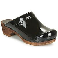 Schoenen Dames Klompen Sanita CLASSIC PATENT Zwart